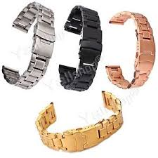 stainless steel bracelet ebay images 18 20 22 24mm stainless steel men 39 s watch band strap double lock jpg