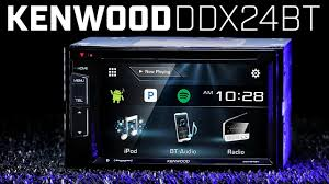 kenwood ddx24bt double din bluetooth stereo youtube