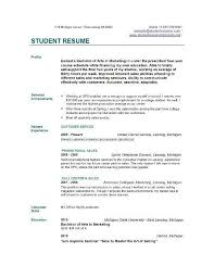 Resume For A Student Sample Resume College Student Job Resumes Samples Sample Resume