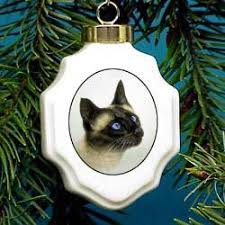 siamese cat ornaments by yuckles