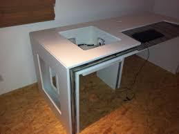 Wohnzimmertisch Holz Selber Bauen Selbst Gebauter Computer Tisch Pc Im Tisch Computerbase Forum