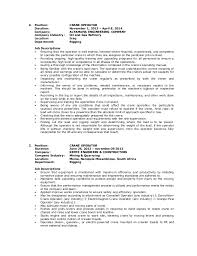Sample Resume For Oil And Gas Industry by Wilfredo Guila Resume Crane Operator