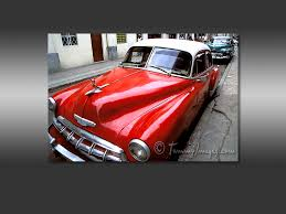 classic american cars free computer desktop wallpaper a red classic car sits in havana