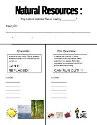 printables renewable and nonrenewable resources worksheets