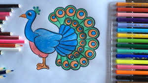 learn colors peacock peacock feather coloring pages for teaching