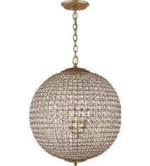 Crystal Sphere Chandelier Visual Comfort Arn 5101g Cg Aerin Traditional Renwick Large Sphere