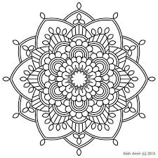 112 printable intricate mandala coloring pages instant download