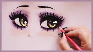 drawing tutorial how to draw and color vampy eyes youtube