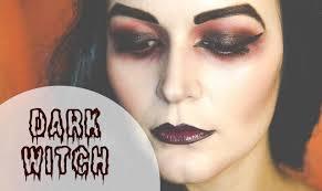 dark witch look halloween make up diy youtube