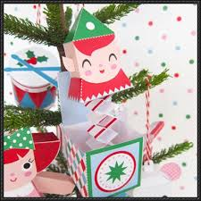 in the box ornament free paper craft