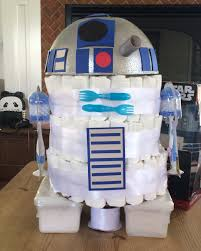 r2d2 diaper cake for my friend maria u0027s star wars themed baby