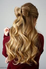 bow hair half up hair bow sue