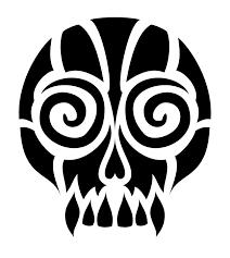 tribal skull by aquadeus on deviantart