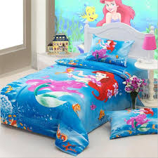 little mermaid twin bedding and wall paint beautiful little