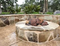 Fire Pit Lava Rock by Fire Pit Pictures Gallery Landscaping Network