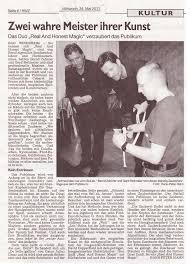 Post Bad Windsheim Presse U0026 Referenzen Real And Honest Magic