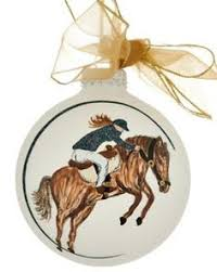 buy cowgirl on a horse western ornaments cowboy ornaments at