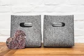 Canvas Storage Bins Felt Box Felt Storage Box Storage Basket Storage Bin Felt