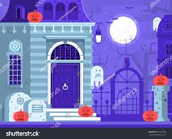 halloween ghost house scene victorian haunted stock vector