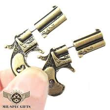 gun earrings pistol gun earrings milspecgifts