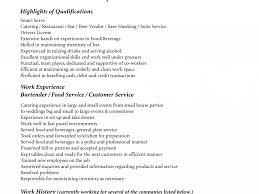 bartending resume template bartender cv example for restaurant