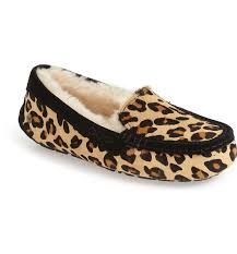 ugg womens ansley sale ugg s ansley calf hair leopard slippers proozy
