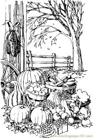 coloring page of fall fall coloring pages printable coloring pages fall harvest natural