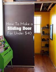 Sliding Door Room Divider Make A Sliding Door For 40 Apartment Therapy Tutorial