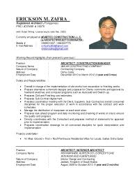 Mobile Architect Resume Arch Eric Zafra U0027s Resume Nov