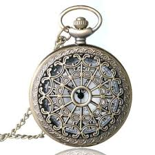 necklace pendant watch images Reebonz punk vintage spider web design hollow quartz pocket watch jpg