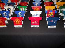 themed place cards jersey place cards sports theme baseball football bar