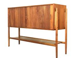 barney flagg parallel tambour door mid century credenza for drexel