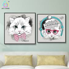 aliexpress com buy nordic decoration lovely cat listen music