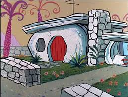 dick clark flintstone house photos real life flintstones house