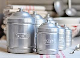 vintage style kitchen canisters vintage kitchen canisters set of 6 by petitsdetails 115 00