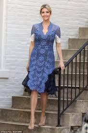 lace dress ivanka stuns in an blue lace dress daily mail online