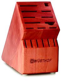 wusthof usa 17 slot cherry block 7267 2 knife storage