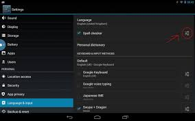 settings for android spell checker settings intent android stack overflow