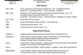 Soccer Player Resume Player Profile Or Resume College Athlete Profile Template Free