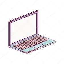 minimalist laptop tech laptop screen with keyboard minimalist stock vector