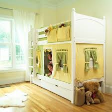 Bunk Bed With Tent At The Bottom Bunk Bed Idea Like The Hanging Storage From Top Bunk And The