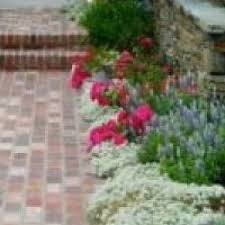 lovely cottage garden remodeling ideas with used brick flowers