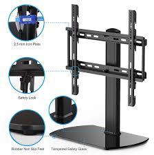 50 inch tv stand with mount amazon com fitueyes universal tv stand base swivel tabletop tv