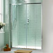 contemporary frosted sliding shower doors door framed enclosure in