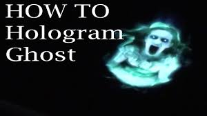 how to make a hologram ghost for halloween youtube