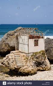 west indies caribbean barbados st joseph bathsheba beach ruined