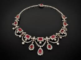 real diamond necklace images Victorian diamond and burmese ruby necklace magnificent and rare jpg