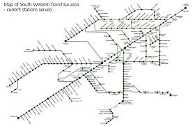 Southwest Route Map South Western Train Rail Maps