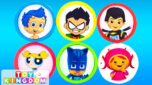 learn colors with bubble guppies pj masks team umizoomi play doh