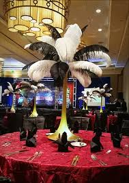 great gatsby centerpieces rent ostrich feathers and ostrich feather centerpieces ostrich